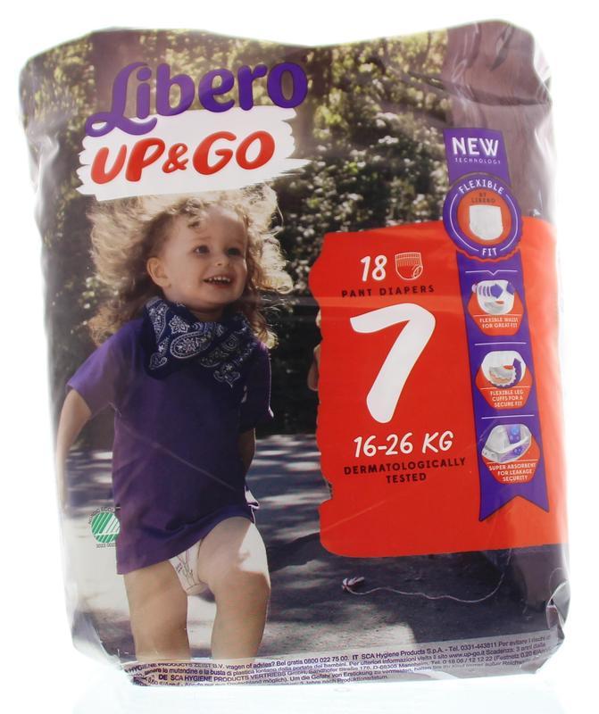 Libero Up and Go Maat-XL Plus 16-26 Kg 48plusmnd 18stuks
