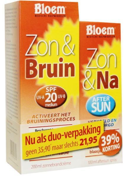 Afbeelding van Bloem Duo Zon 100 Ml & Na Bruin 200 1set