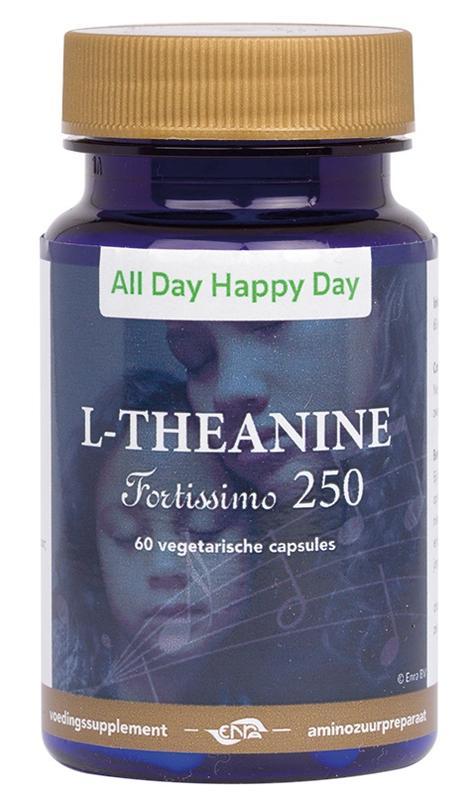 Afbeelding van Alldayhappyday L theanine 250 Mg 60vc