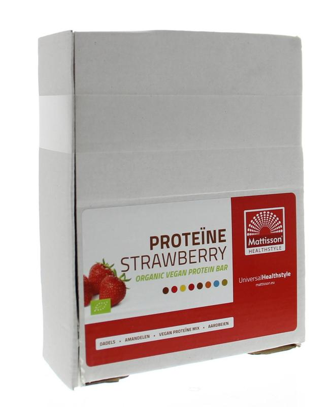 Mattisson Organic Energy Bar Protein Strawberry 35 Gram
