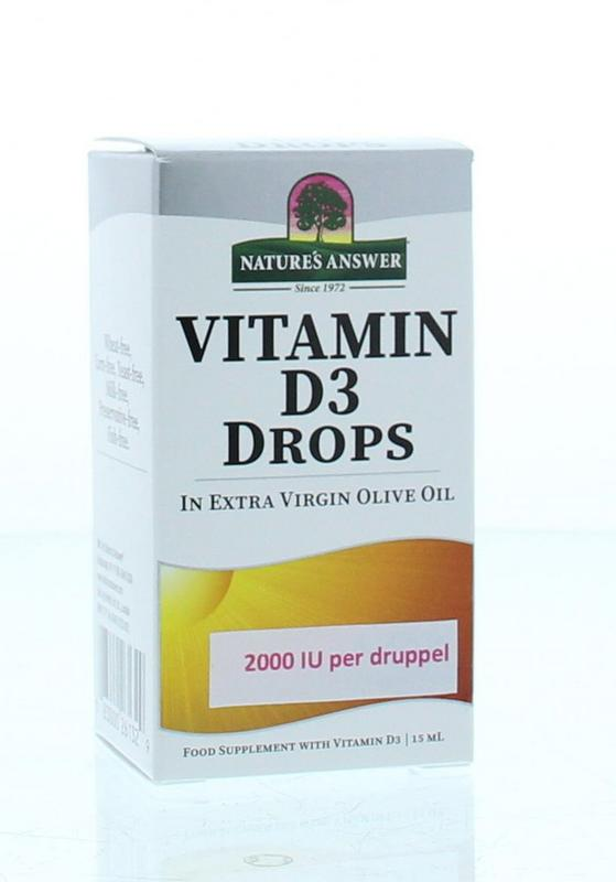 Natures Answer Vitamine D3 2000 Iu 50 Mcg Per Druppel