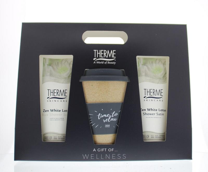Therme Geschenkverpakking Coffeetea To Go Shower Satin