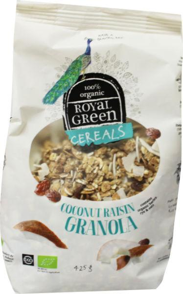 Royal Green Cereals Coconut Raisin Granola