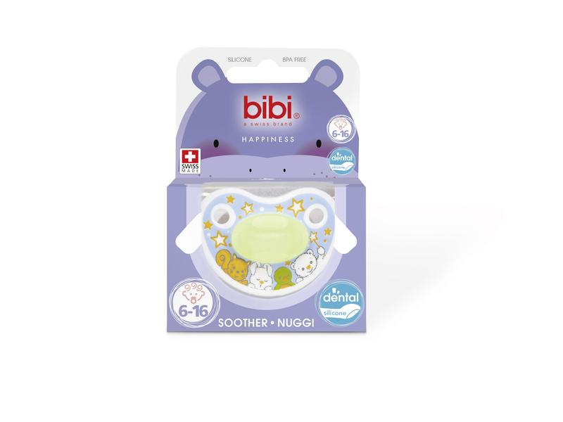 Bibi Fopspeen Happiness Glow In The Dark 6-16 Maanden