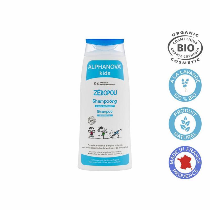 Afbeelding van Alphanova Kids Bio Zeropou Shampoo Preventie Hoofdluis 200ml